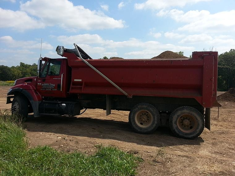 One of our two Tandem Axle Dump Trucks