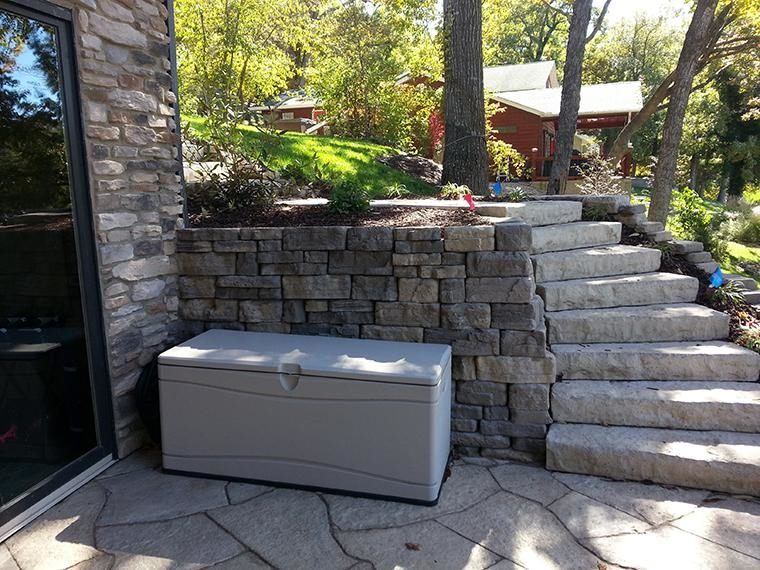 Rosetta Dimensional Steps and Bellevedere Retaining Wall