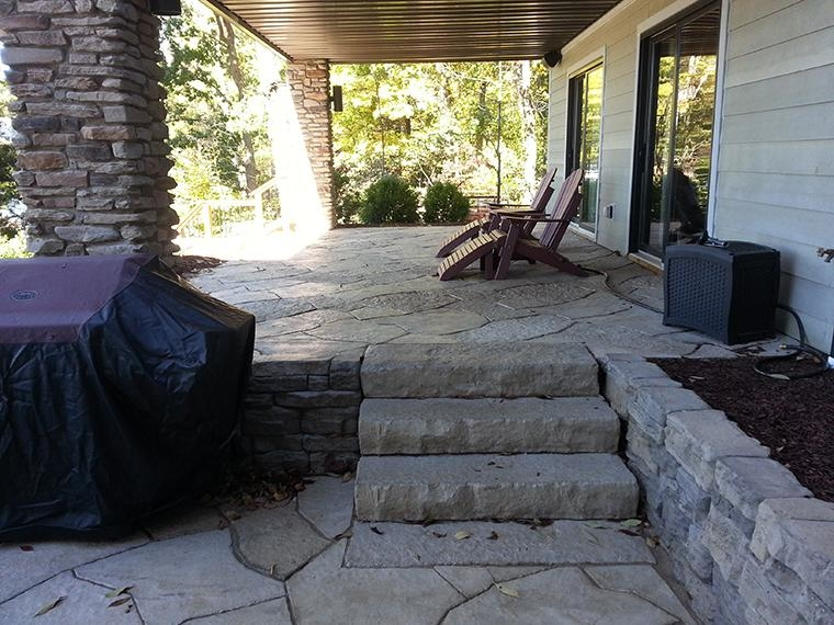 Rosetta Dimensional Steps and Grand Flagstone Patio Area